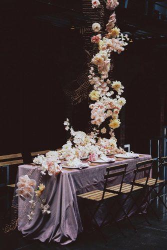 wedding decor 2019 hanging floral installations with orchids kyleeyeephoto