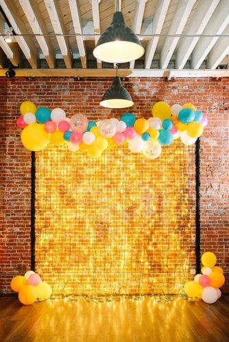 wedding decor 2019 lighting garlands and colorful balloons bridal backdrop mary costa weddings