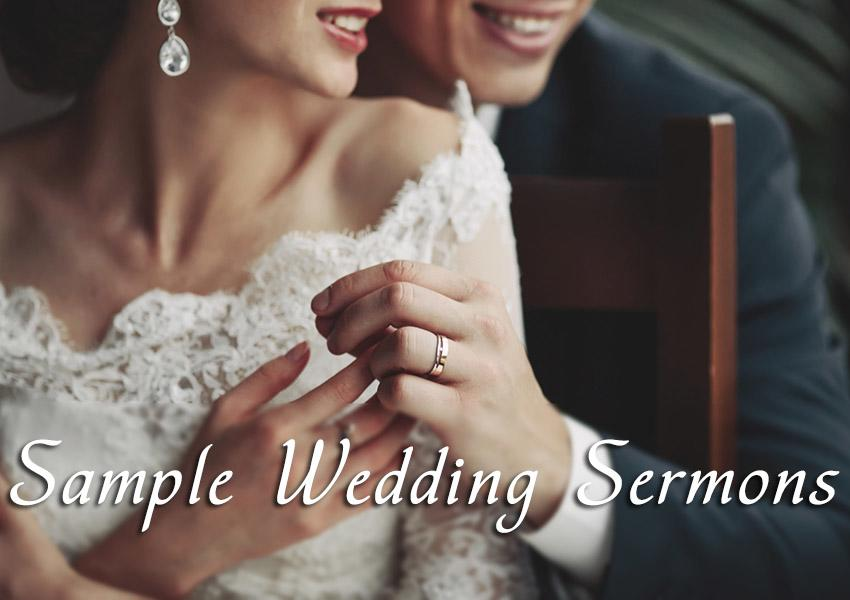 wedding sermons newlyweds together sample wedding sermon