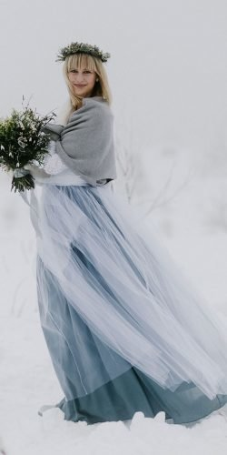 winter wedding dresses outfits with coat blue tulle skirt everbay co