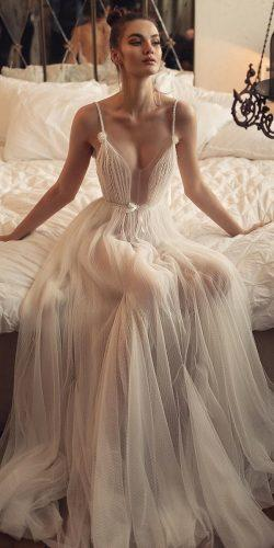 beach wedding dresses a line with spaghetti straps bow nude matanshaked