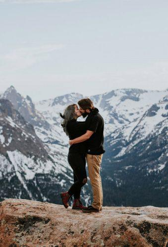 best honeymoon destinations kiss in rocky mountains vowofthewild