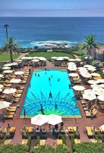 best honeymoon destinations laguna beach pool in hotel b.b.trademark