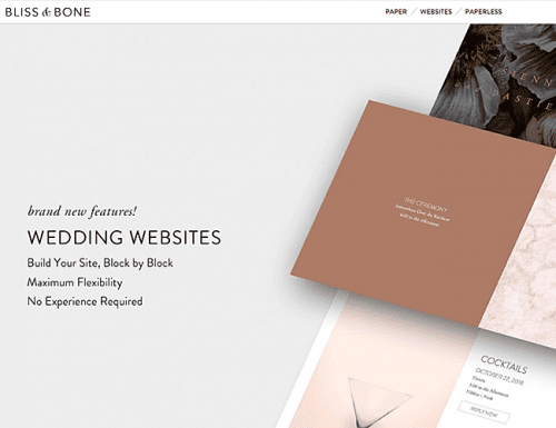 best wedding websites bliss and bone