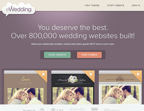 best wedding websites e wedding