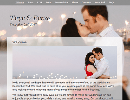 best wedding websites glosite
