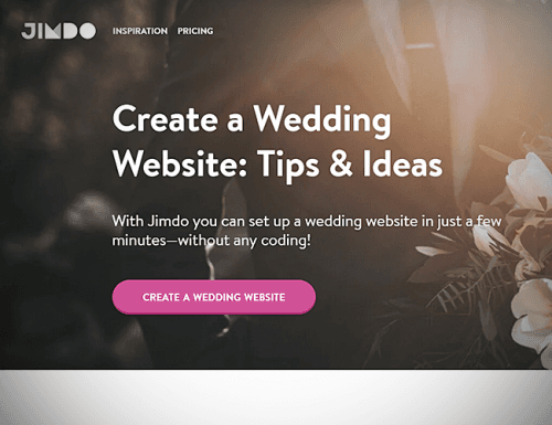 best wedding websites jimdo