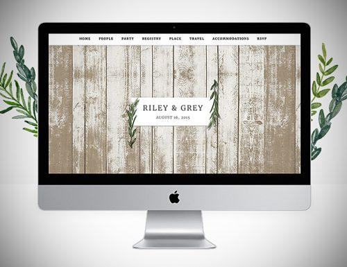 best wedding websites riley and grey