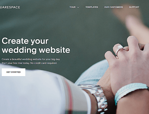 best wedding websites square space