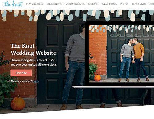 best wedding websites the knot