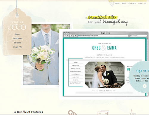 best wedding websites wedding jojo