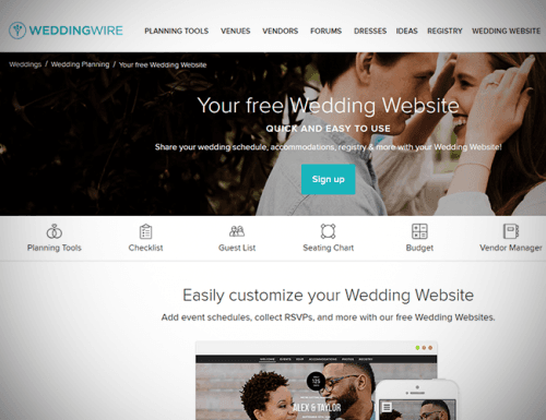 best wedding websites wedding wire