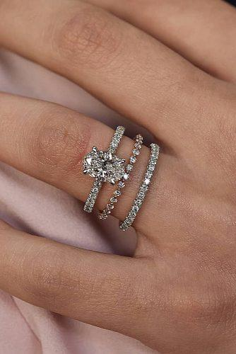 bridal sets oval cut classic pave band diamond
