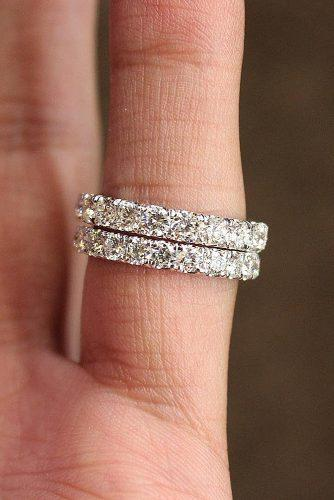 bridal sets stackable diamond rings white gold