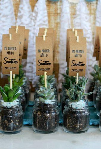 cheap wedding favors f;ower in jars cabezadenovia