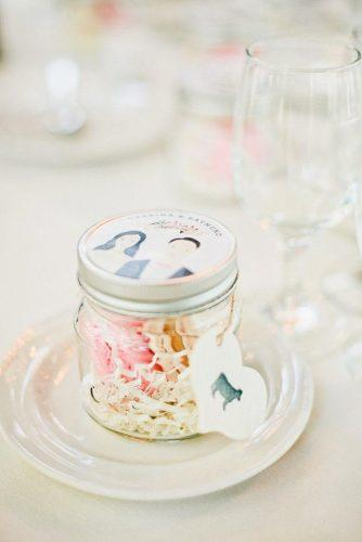 cheap wedding favors jar on the plate Onelove Photography