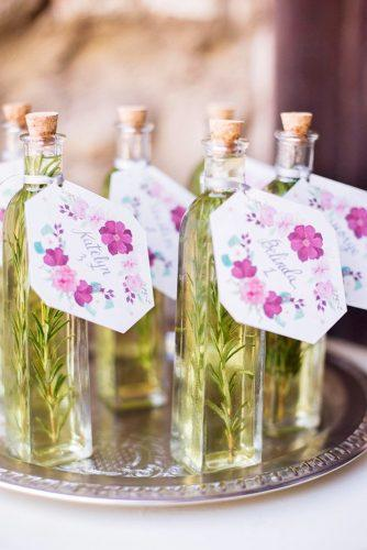 cheap wedding favors oil in bottle Sally Pinera Photography