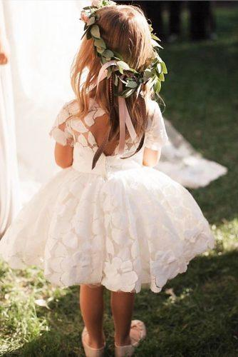 flower girl dresses with cap sleeves open back country dolorispetunia⠀