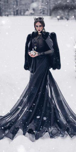 gothic wedding dresses vintage with long sleeves malyarovaolga
