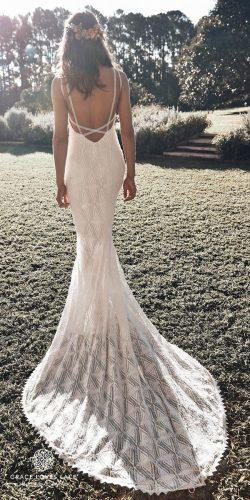 grace loves lace wedding dresses icon latest collection gown ivory open back spaghetti straps leon