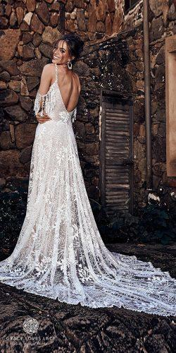 grace loves lace wedding dresses icon latest collection ivory v open back spaghetti straps sol