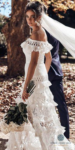 grace loves lace wedding dresses icon latest collection off the shoulder laces trims coco