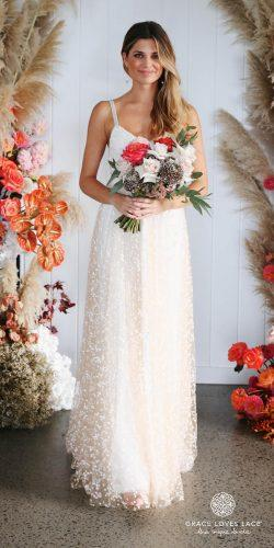 grace loves lace wedding dresses icon latest collection simple dress ivory tone classic straps menha