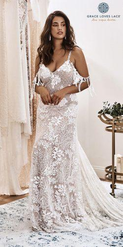 grace loves lace wedding dresses icon latest collection v neck spaghetti decor gown sol