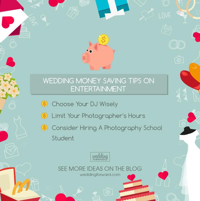 how to save money on a wedding entertainment