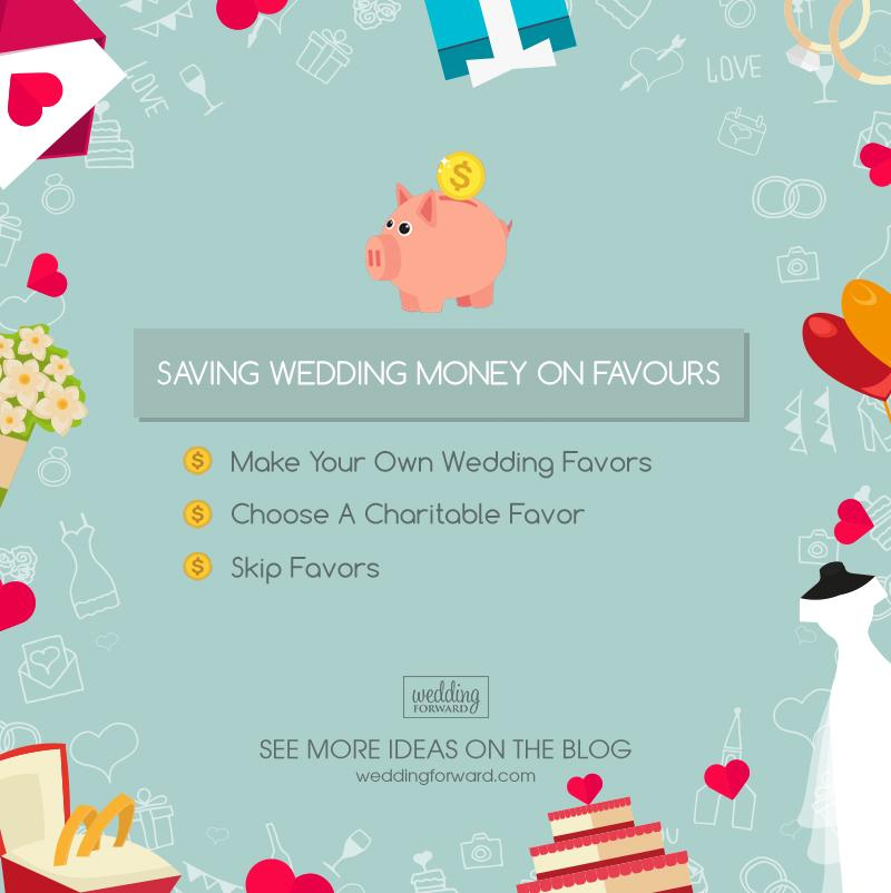 how to save money on a wedding favours
