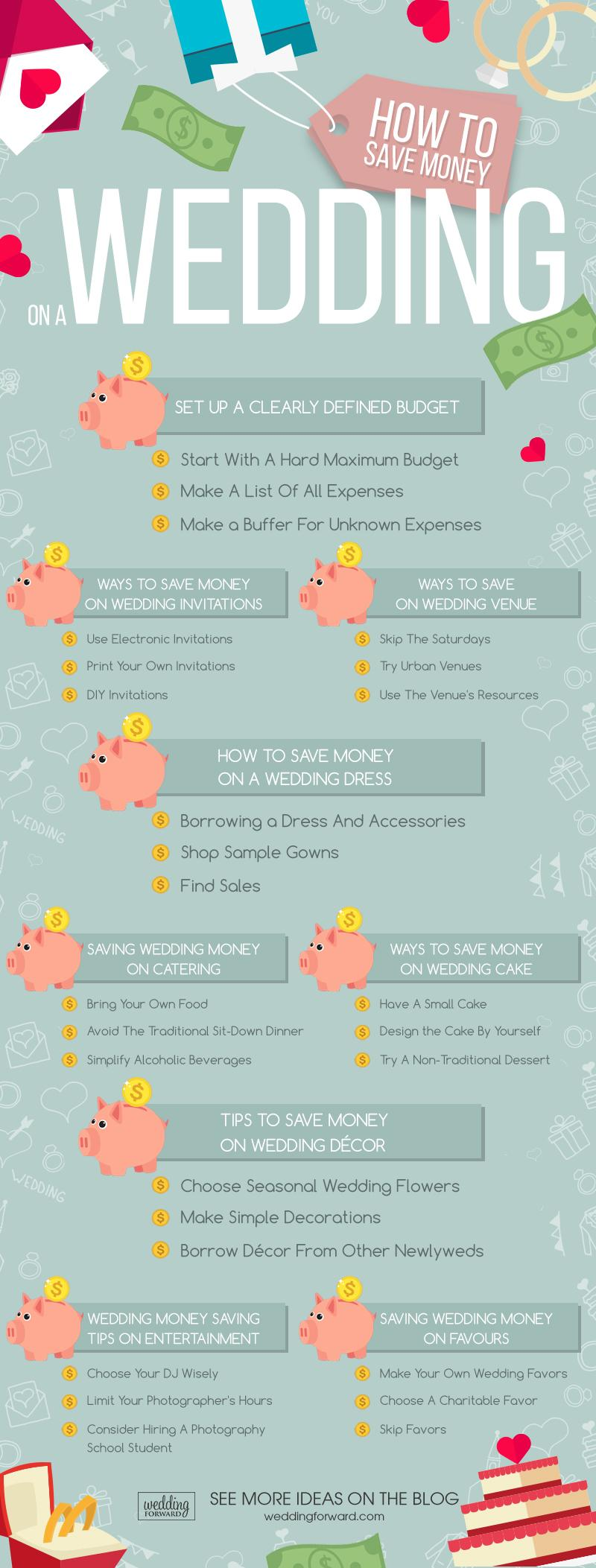 how to save money on a wedding - infographic