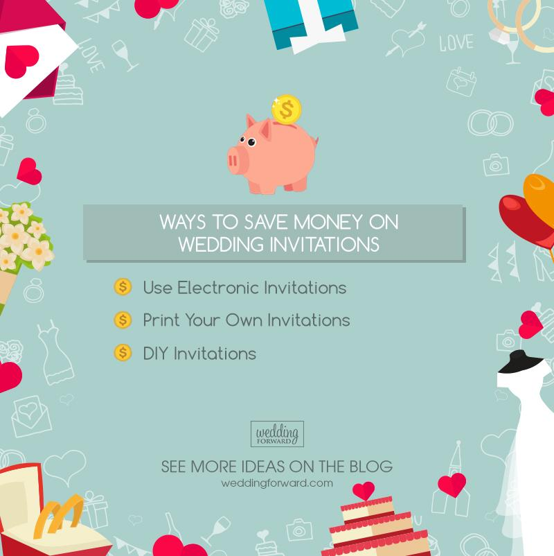 how to save money on a wedding wedding invitations