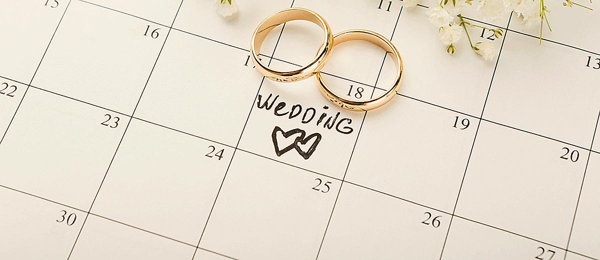 last minute wedding planning details wedding rings at the calendar wedding date