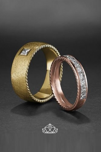 mens wedding bands diamond wedding bands rose gold wedding bands classic wedding rings for him and her matching wedding bands crownring official
