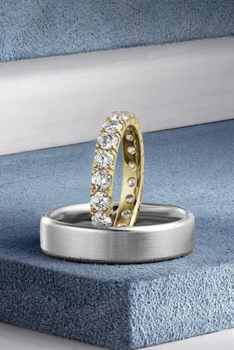 mens wedding bands diamond wedding bands white gold wedding bands unique wedding rings for him and her matching wedding bands crownring official