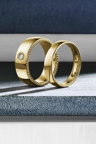 mens wedding bands diamond wedding bands yellow gold wedding bands classic wedding rings for him and her matching wedding bands crownring official