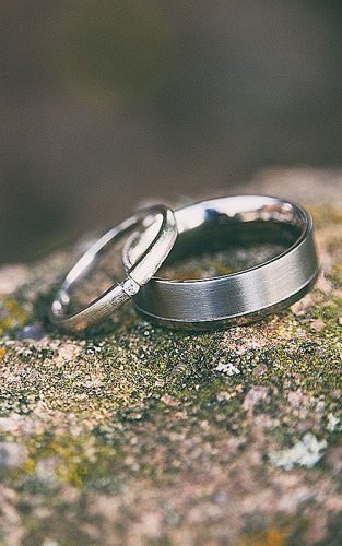 mens wedding bands silver pair wedding bands