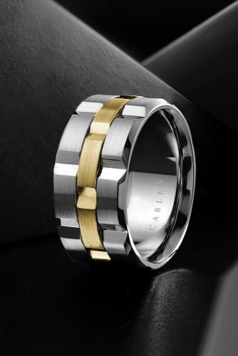 mens wedding bands unique wedding bands yellow gold wedding bands white gold wedding rings-two tone wedding bands classic rings crownring official