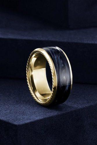 mens wedding bands yellow gold wedding bands unique wedding bands tungsten wedding bands for him