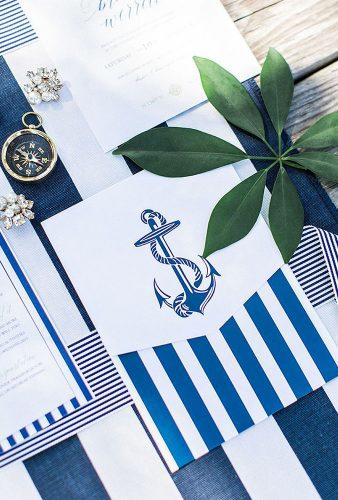 nautical wedding decor ideas blue polygraphy flora fauna