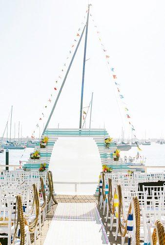 nautical wedding decor ideas nautical arch Sargeant Creative