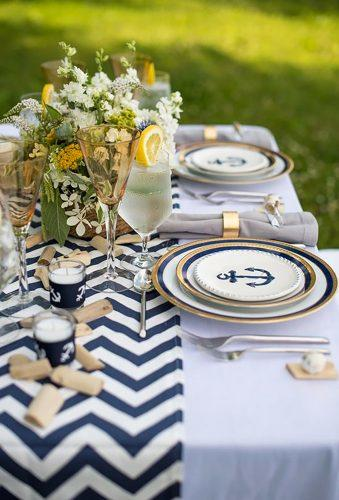 nautical wedding decor ideas nautical plates Paul Reynolds Photography