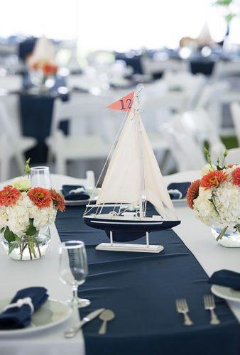 nautical wedding decor ideas nautical table centerpiece Rachael Foster Photography