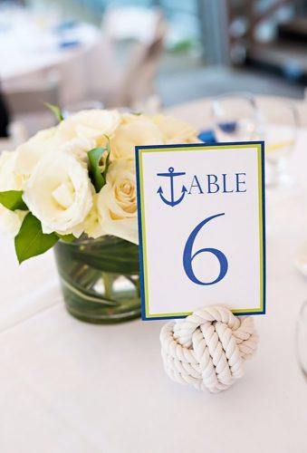 nautical wedding decor ideas nautical table sign MysticKnotwork