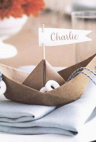 nautical wedding decor ideas paper ship Martha Stewart