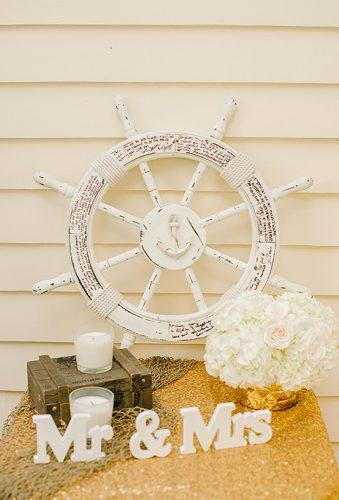 nautical wedding decor ideas reception details Krista Mason Photography