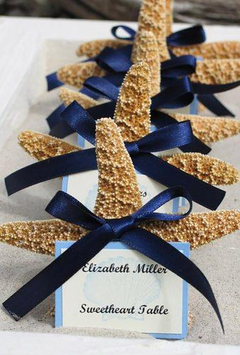 nautical wedding decor ideas starfish cards seashellsbyseashore
