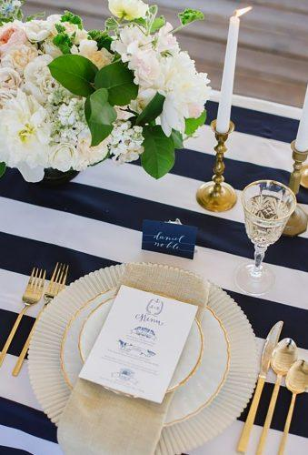nautical wedding decor ideas table decor Jessmy