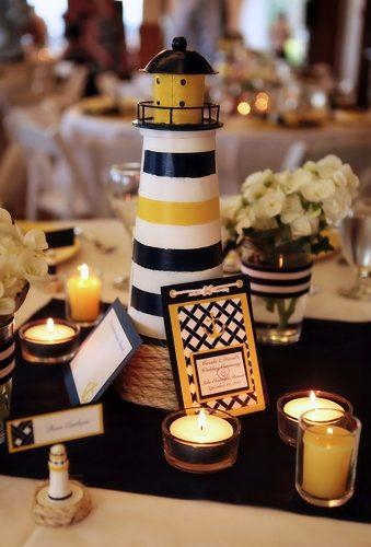 nautical wedding decor ideas wedding centerpiece Abby Photography