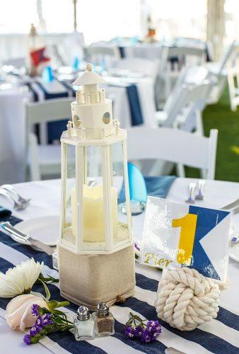 nautical wedding decor ideas white lantern Grant Deb Photographers